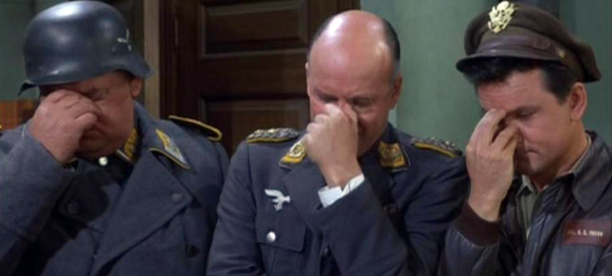 Triple facepalm (Hogan's heroes)